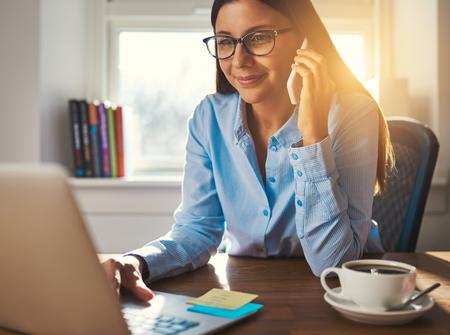 Female entrepreneur working at desk business woman concept Stock fotó
