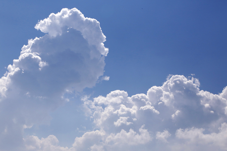 Landscape view of blue sky and white cloud