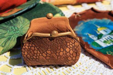 Handmade purse made of ceramics