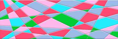 Illustration in stained glass style abstract background has lines and geometric shapes, pink, turquoise, red, green, gray. Plastic texture with the embossing, stained glass Stock Photo