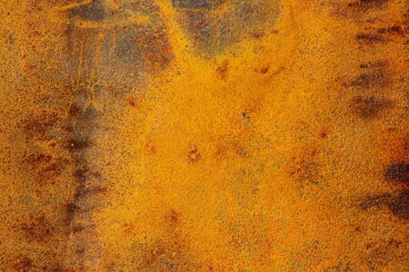 Texture of old rusty iron metal background. Old bright orange rough steel rusty background. 스톡 콘텐츠