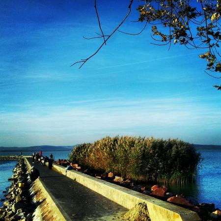 balaton: Lake Balaton Hungary Stock Photo