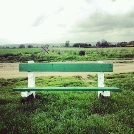 lonelyness: Bench Stock Photo