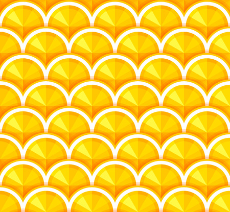 orange slices: Seamless background with orange slices. Vector pattern in flat design. Illustration
