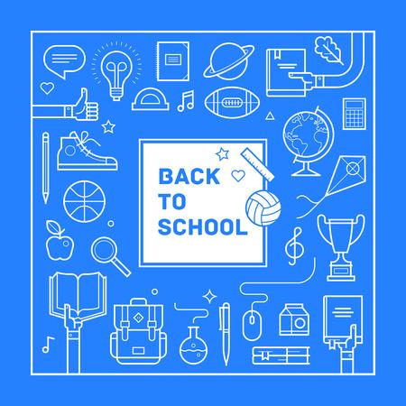 Back to school poster or invitation design 矢量图像