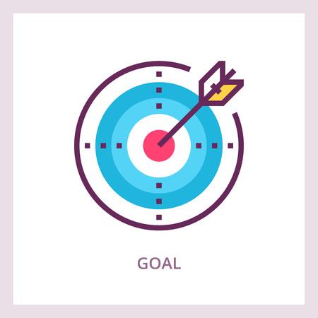 Goal achievement icon.