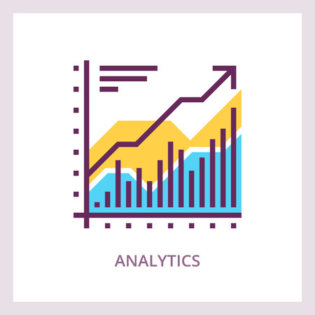 Financial analytics icon. Business concept. Vector 免版税图像 - 90692663