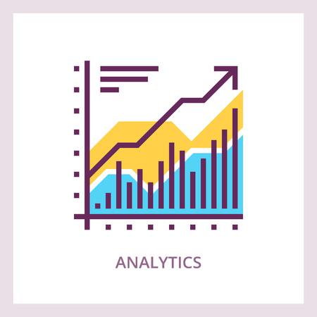 Financial analytics icon. Business concept. Vector