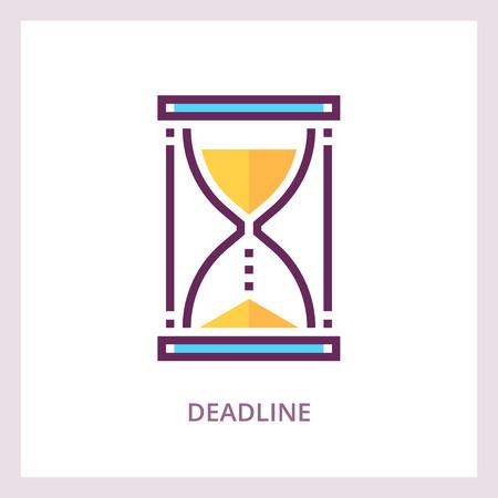 Deadline icon. Time management business concept. Vector linear pictogram
