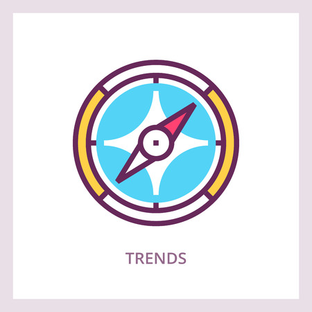 Trends icon, Business concept. Vector illustration. Illustration