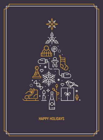 Christmas greeting card design idea.
