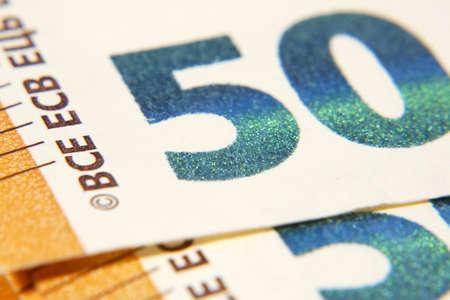 50 Euro Money. fifty euro cash background. Euro Money Banknotes, macro