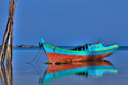 インドネシアの漁船 写真素材