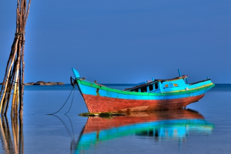 Indonesian Fishing Boat Stock Photo - 7333513
