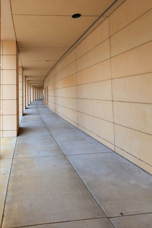 vanishing: Long Curved walkway with vanishing point