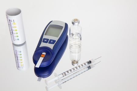 Glucose Meter, Blood sugar testing photo