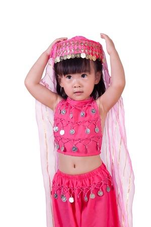 petite fille musulmane: Princesse Jessica portait une robe rouge princesse