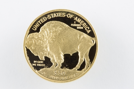 Buffalo Gold proof coin $50 with like surface photo
