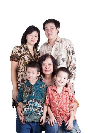 Loving Indonesian Family Stock Photo