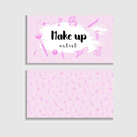 Makeup artist business card vector template makeup artist business card vector template stock vector 100974318 cheaphphosting Gallery
