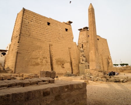 Luxor Temple is a large Ancient Egyptian temple complex located on the east bank of the River Nile in the city today known as Luxor  ancient Thebes  and was founded in 1400 BCE