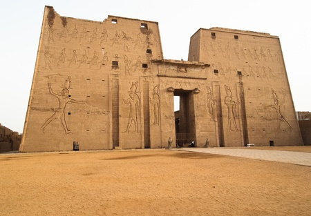 Temple of Edfu is an ancient Egyptian temple located on the west bank of the Nile in the city of Edfu which was known in Greco-Roman times as Apollonopolis Magna, after the chief god Horus-Apollo photo
