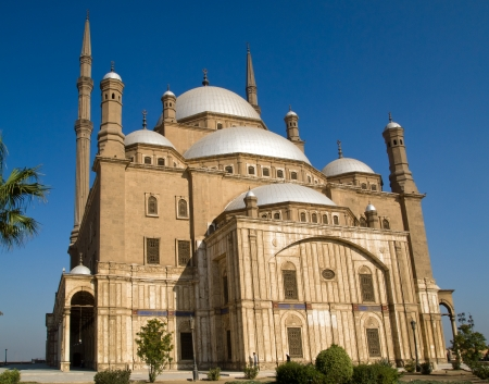 cairo: The Mosque of Muhammad Ali Pasha or Alabasterd Mosque, Cairo in Egypt