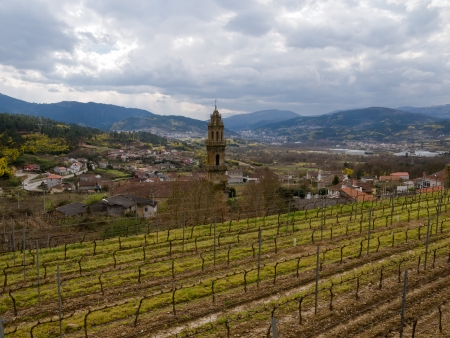 Vineyards and villages  Ourense, Galicia, Spain Stock Photo
