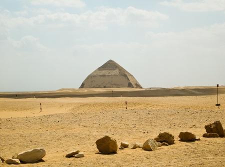 bent: Bent Pyramid in the royal necropolis of Dashur, Egypt