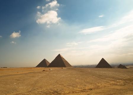 Giza pyramids in  Egipt photo