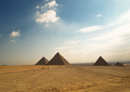 giza: Giza pyramids in  Egipt
