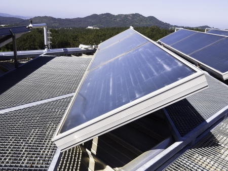 solarpower: Solar panel in a roof  Galicia - Spain