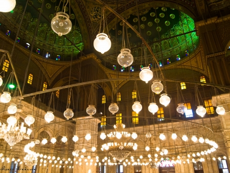 Interior of the Mosque of Muhammad Ali Pasha in Cairo