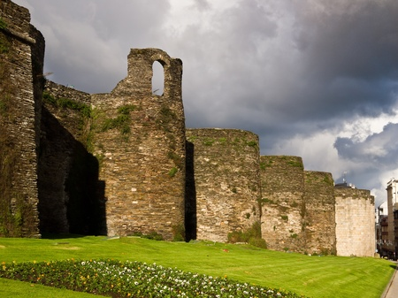 galicia: Roman wall of Lugo. World Heritage Site Editorial