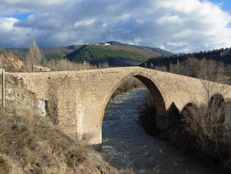 San Juan medieval bridge in Jaca, Huesca - Aragón - Spain