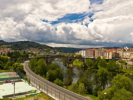 orense: Ourense Roman bridge over Minho river
