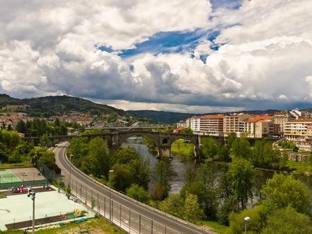 galicia: Ourense Roman bridge over Minho river