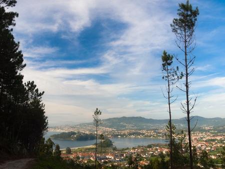 hollidays: Ria de Vigo in A Ramallosa Baiona Stock Photo
