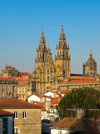 galicia: View of Obradoiro Santiago de Compostela cathedral