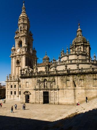 Holy Door of Santiago de Compostela Cathedral andt Berenguela tower Stock Photo - 15204152