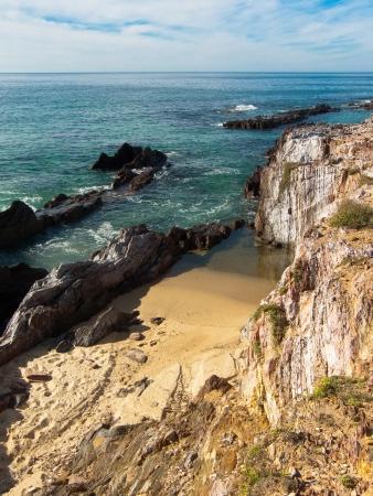 galicia: As Furnas beach in Porto do Son in Galicia