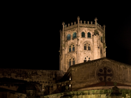 splendour: Romanesque cathedral of Ourense in Galicia