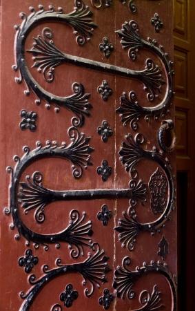 splendour: Romanesque door of Lugo cathedral in Galicia