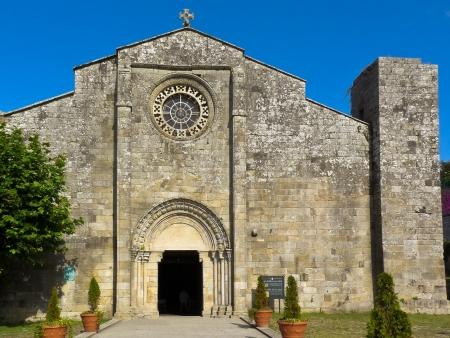 Romanesque collegiate Santa Maria of Baiona in Galicia
