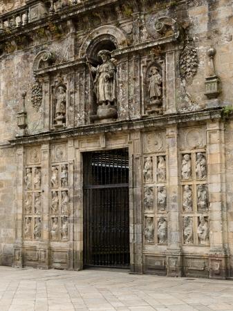 Holy door in Santiago de Compostela cathedral  Stock Photo