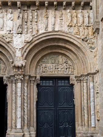 Romanesque Platerias facade Compostela Cathedral