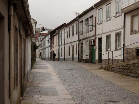 Tipical street of Santiago de Compostela Stock Photo