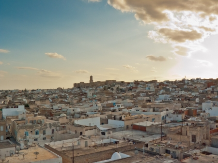 View of Sousse in Tunisia Stock Photo