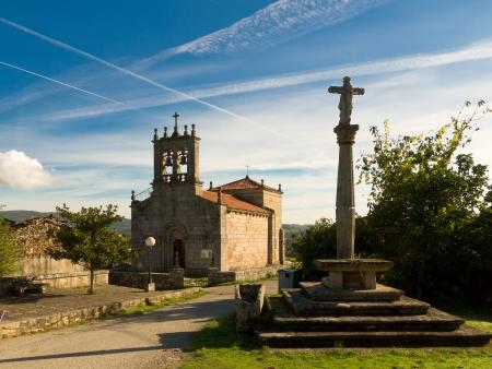 galicia: Romanesque church Santiago de Taboada in Silleda