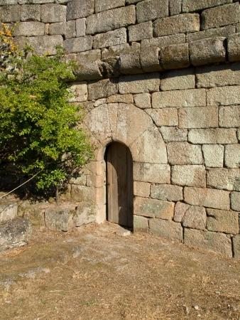 Medieval door in Ribadavia castle